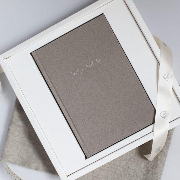 Darbo knyga tekstiliniu viršeliu ROJAUS KRIAUKLĖ A5 formatas dėžutėje