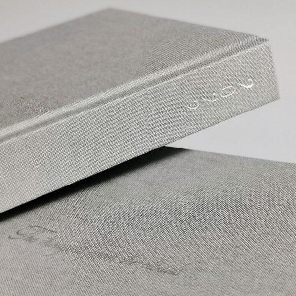 Darbo knyga tekstiliniu viršeliu SIDABRINĖ ŽVAIGŽDĖ A5 formatas