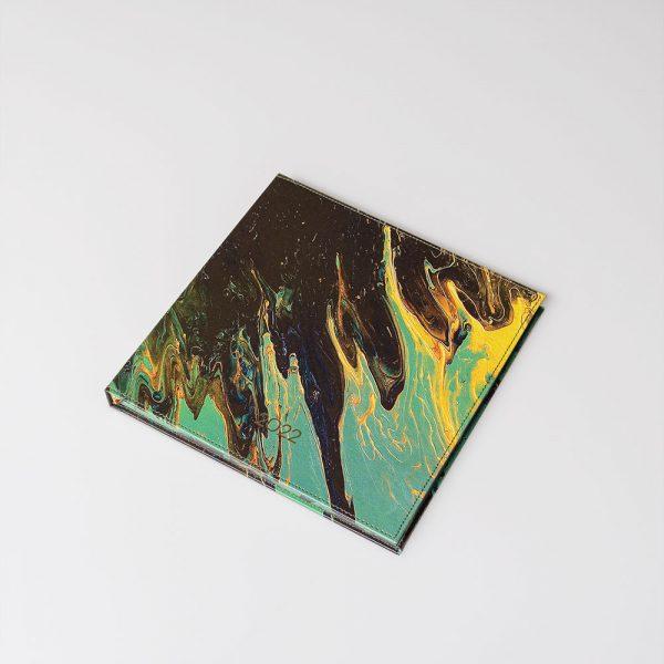 Darbo knyga kietu odiniu viršeliu ATLANTO VANDENYNAS (kvadratas)