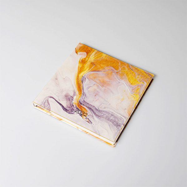Darbo knyga kietu odiniu viršeliu PIETŲ VANDENYNAS (kvadratas)